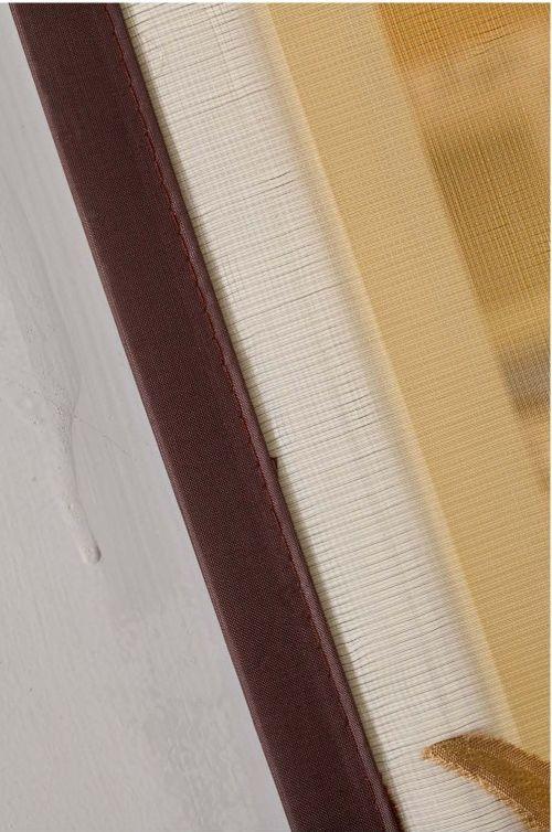 Detail Pinggiran Semua dijahit rapi dan tidak direkatkan seperti tirai pintu yg lain.. dengan menggunakan bahan pinggiran polyester cotton high qualityl.