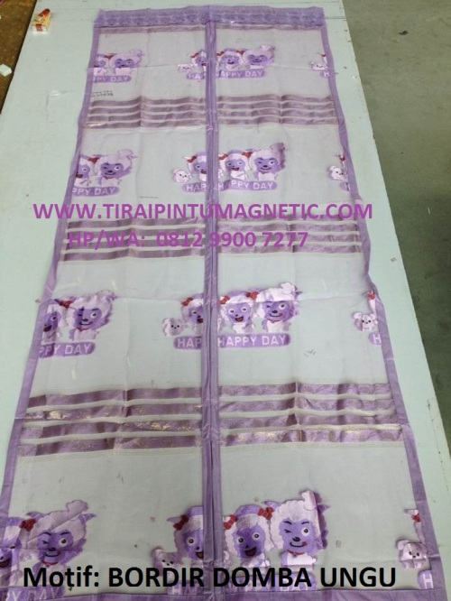 Motif : Bordir Domba  Size : 90x210 Warna: Ungu