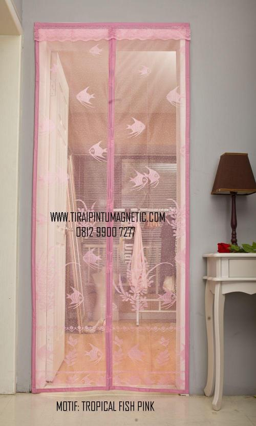 Size   :  95 x 210 Motif  : Tropical Fish Warna: Pink & Biru