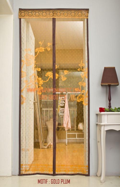 Size: 95x210cm Warna: Coklat Gold Motif: Gold Plum