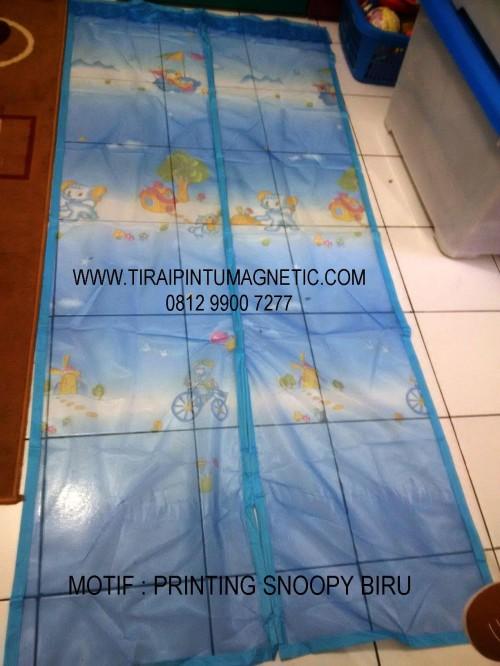 Size: 95x210 Warna: Biru Motif : Kartun Snoopy