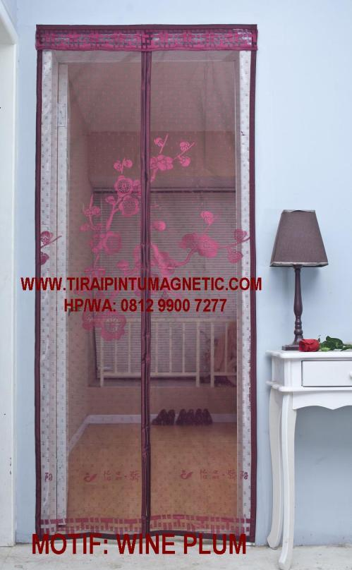Size: 95x210cm Warna: Merah Anggur Motif: Wine Plum
